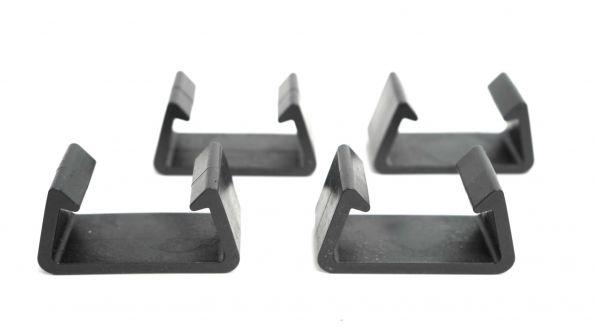 Clips de fixation mobilier en résine tressée (Lot de 4 connecteurs)