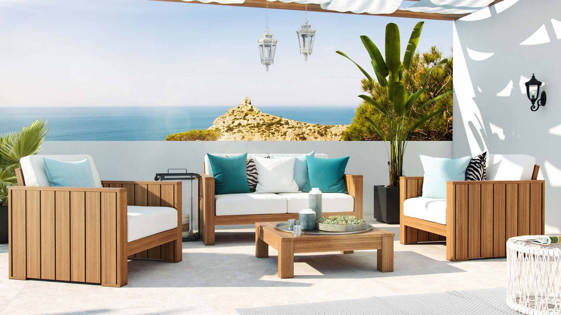 Artelia fr salon de jardin en eucalyptus becky for Artelia salon de jardin