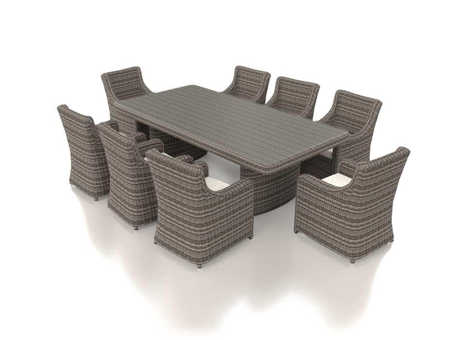 Artelia fr artelia ensemble table et chaise de jardin - Table et chaise de jardin resine tressee ...