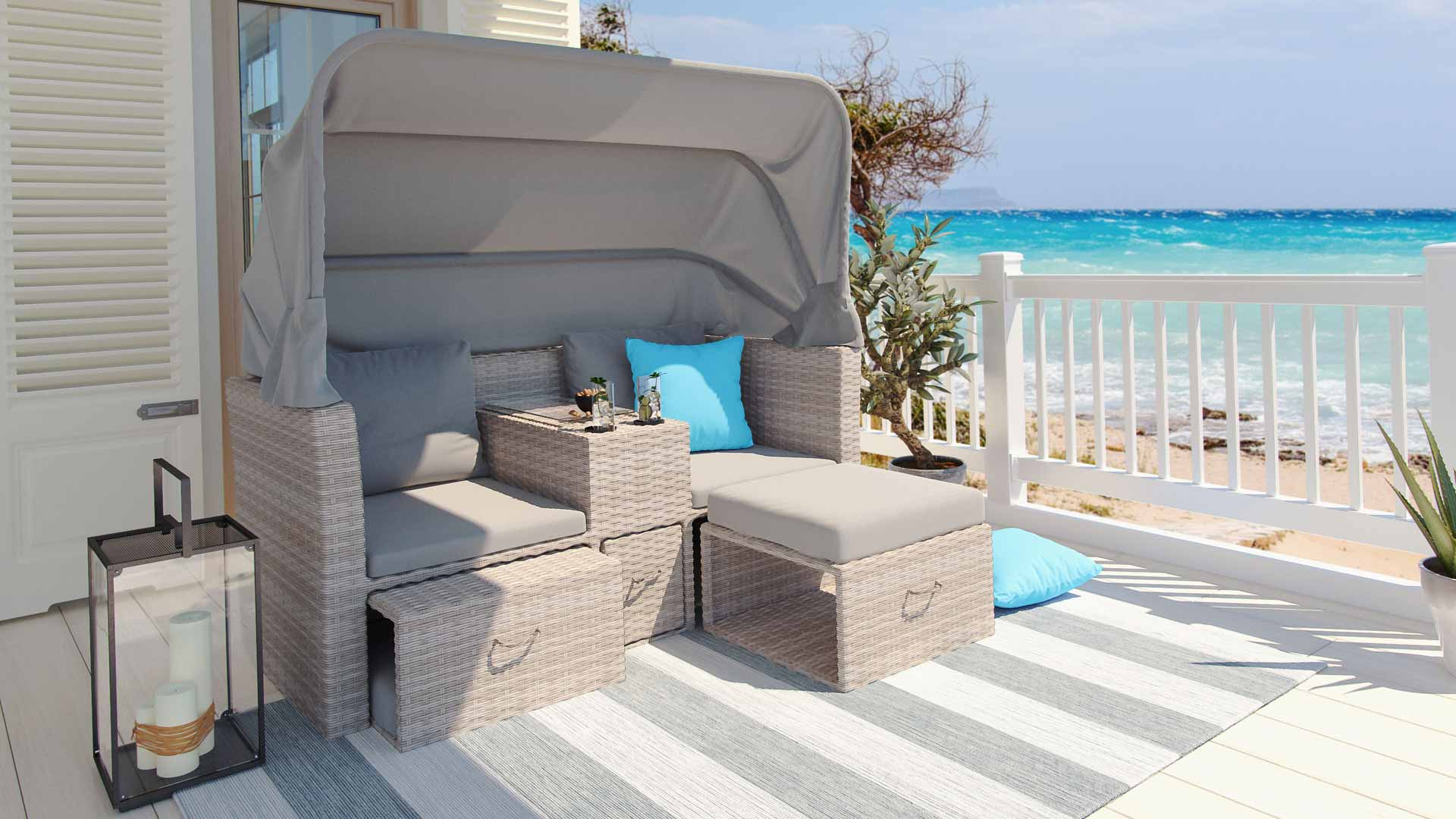 artelia fr canap bain de soleil en r sine tress e auroraa. Black Bedroom Furniture Sets. Home Design Ideas