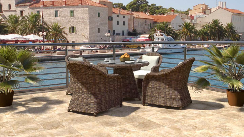 Artelia fr ensemble table et chaise de jardin en r sine - Table et chaise de jardin resine tressee ...