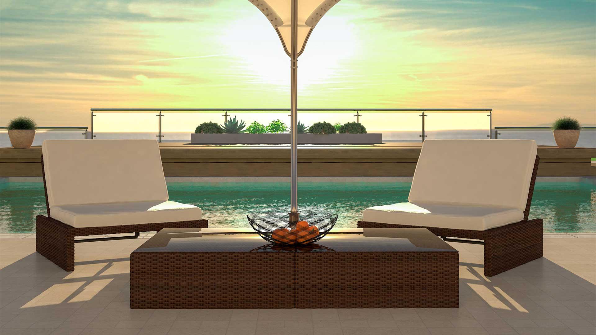ARTELIA.FR | Lounge salon de jardin en résine tressée Estoria