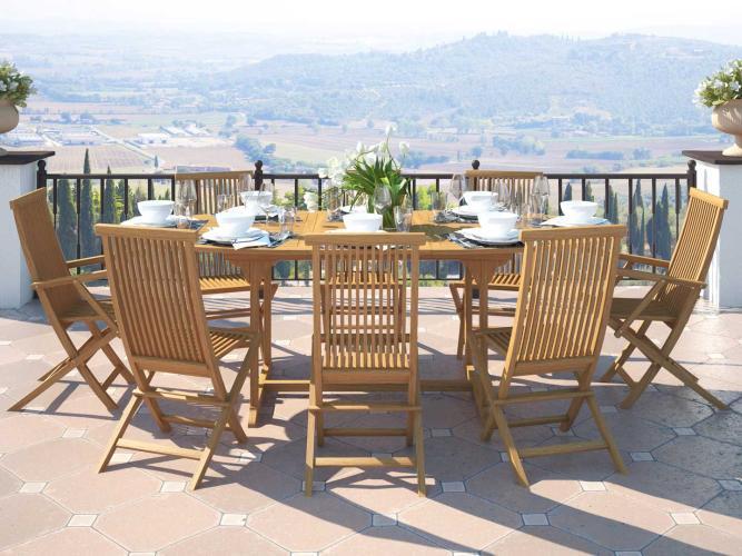 Ensemble table et chaises Amalia XL - Bois