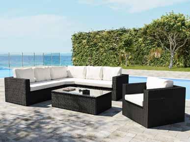ARTELIA.FR | Salon de jardin avec rangements intégrés Limia