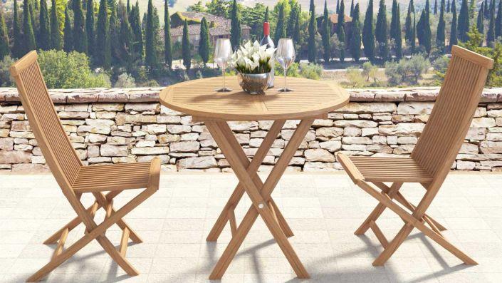 Ensemble table et chaises Amalia S - Bois