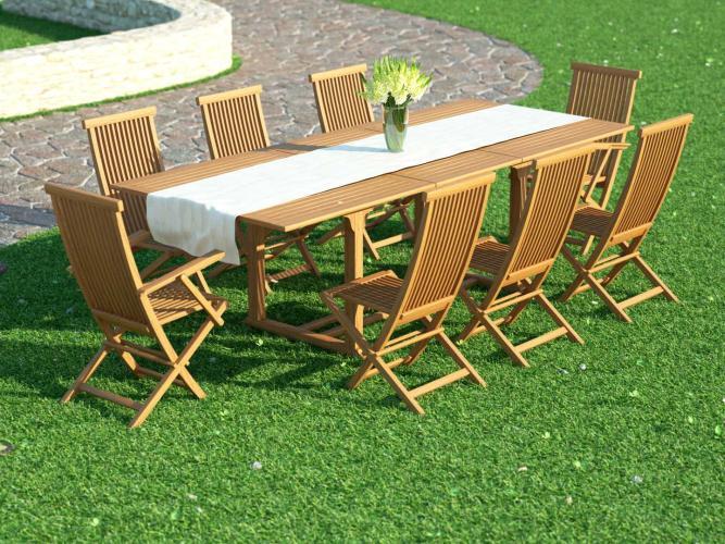 Ensemble table et chaises Naomi XL - Bois