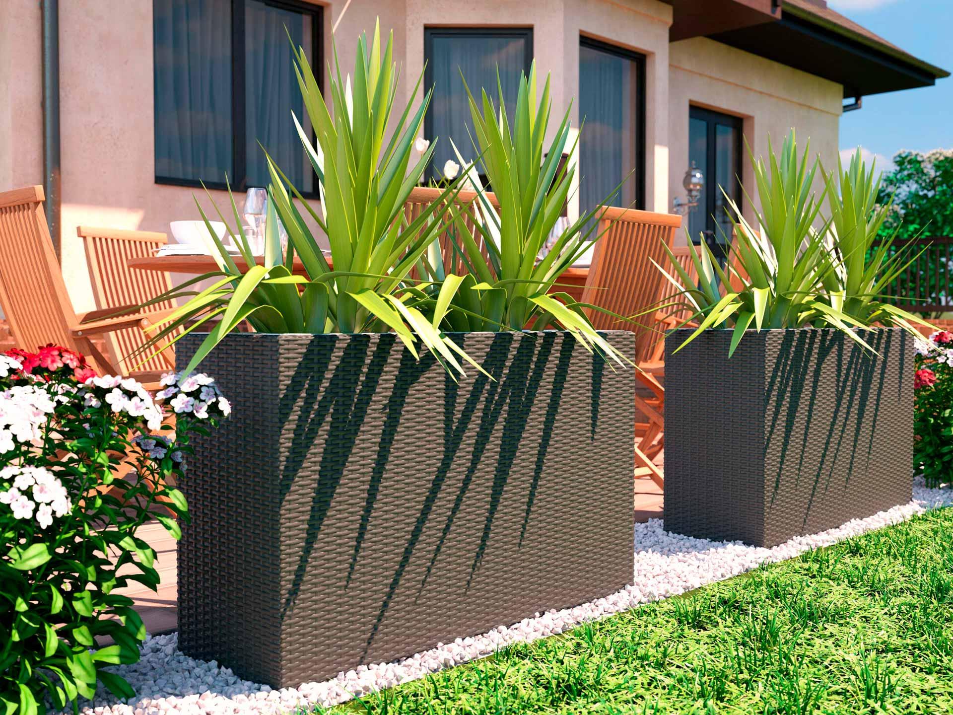 artelia fr pot de fleur en r sine tress e natura m. Black Bedroom Furniture Sets. Home Design Ideas