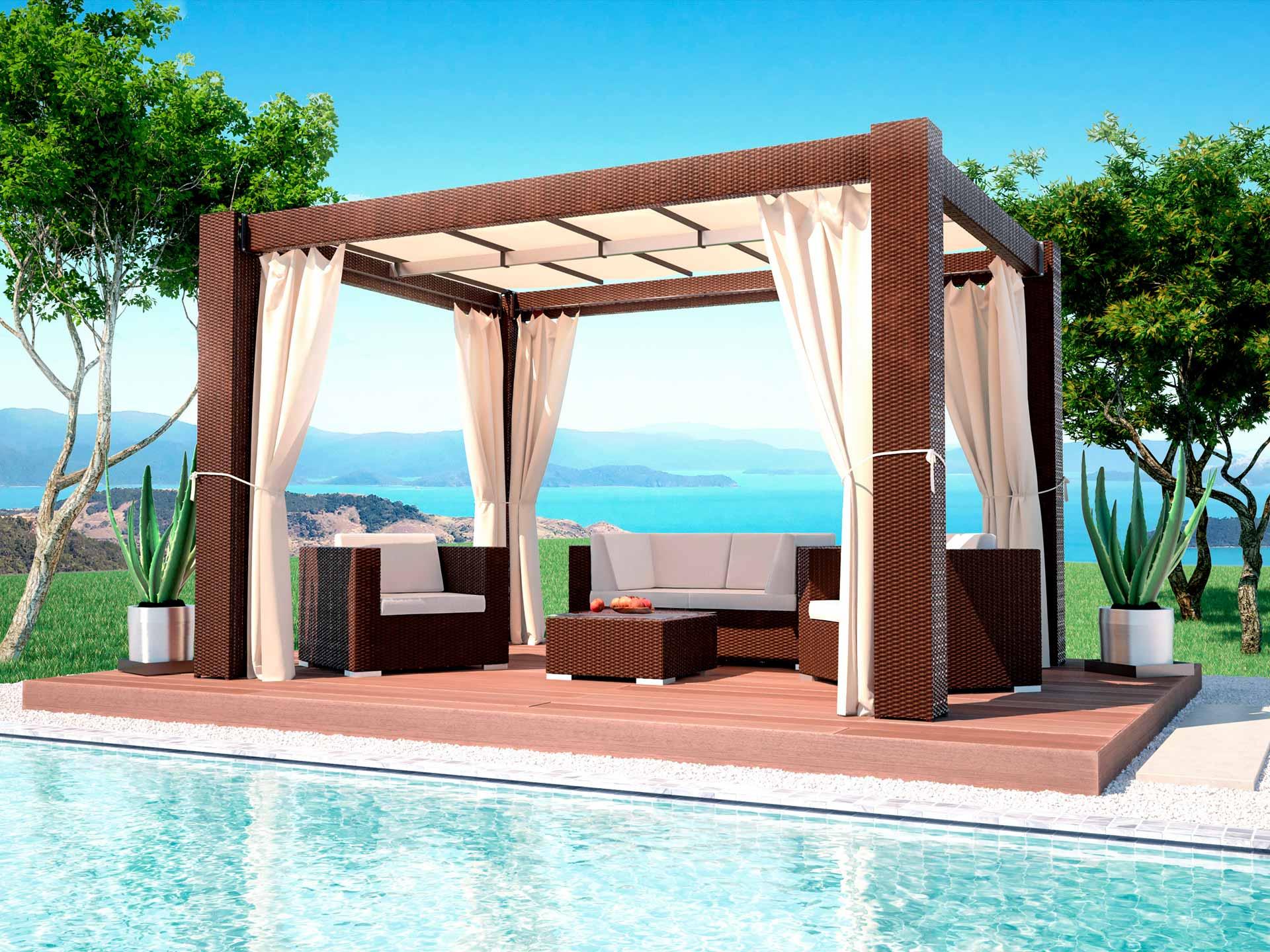 artelia fr tonnelle pergola originale r sine tress e paloma 4mx3m. Black Bedroom Furniture Sets. Home Design Ideas