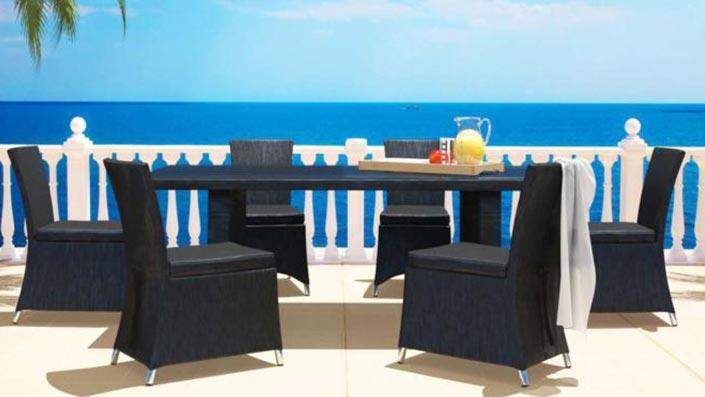 Taxana - Table et chaises en textilène