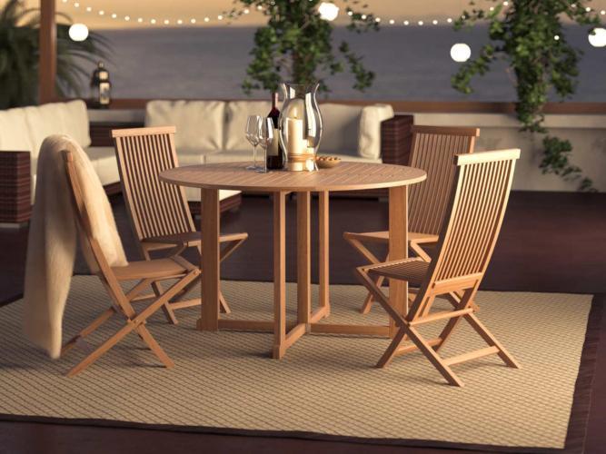 Ensemble table et chaises Amalia M - Bois
