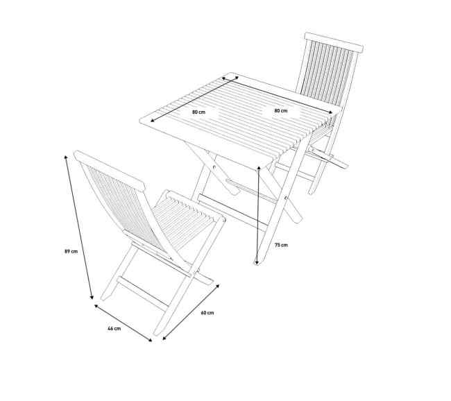 Ensemble table et chaises Naomi S