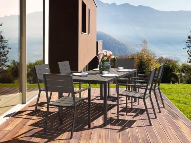 Yelomi - Table et chaises en bois composite